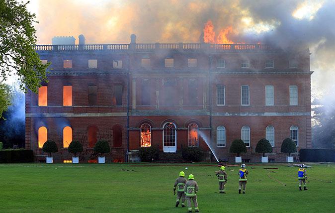 Clandon Park fire (Photo: Rex)