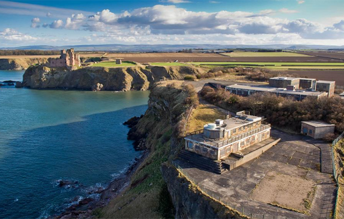 The WW2 naval base set to become an incredible clifftop home near Edinburgh