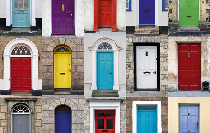 colour front door