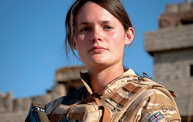 Frontispiece - Lieutenant Emma Spilsbury - Emma, aged 24, is the daughter of Major and Mrs Peter Spilsbury of Breaston, Derbyshire. Commissioned in August 2007, Emma has served with 3 Rifles in Kosovo and Kenya, and is now in Sangin, Afghanistan. She will return to the UK this month.