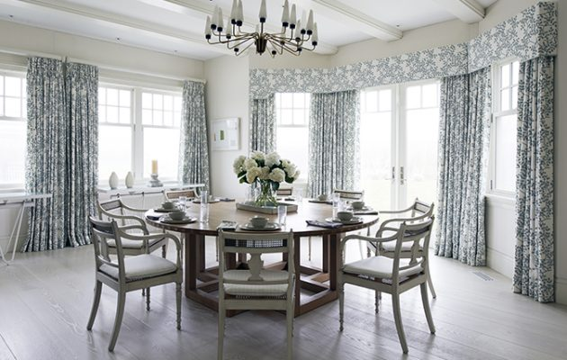 dining room inspired by Long Island