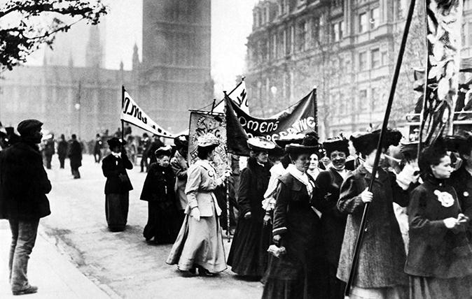 ET6GYD Suffragette demonstration in London, 21st March 1906.