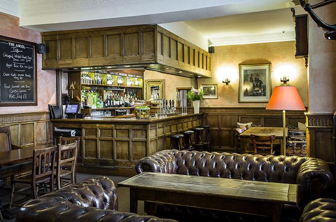 Foxhunter bar at the Angel Hotel, Abergavenny