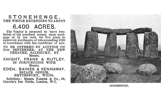 Stonehenge advert in Country Life - 1915