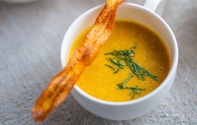 Michael Caines curried carrot soup