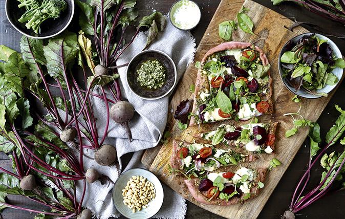 Beetroot-crust pizza