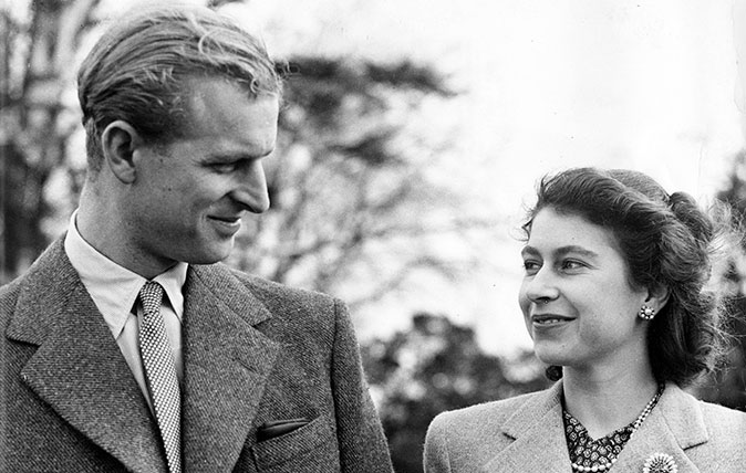 HM The Queen and HRH Prince Philip on honeymoon