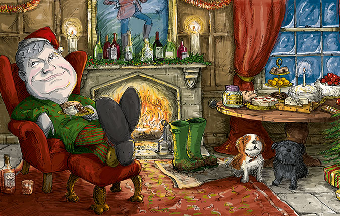 Ultimate Christmas Day food - Illustration by Sholto Walker