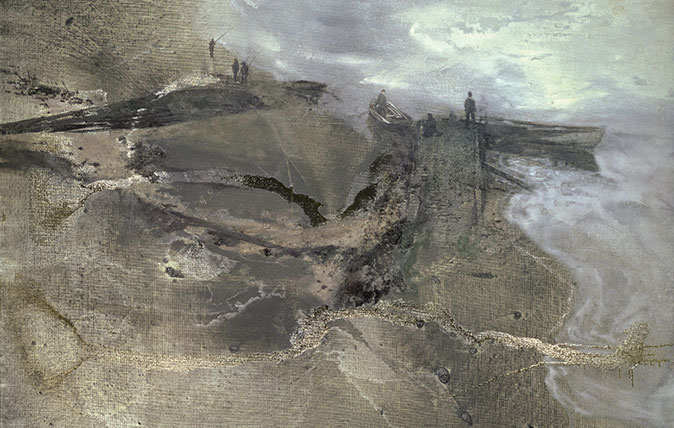 Thames Painting: The Estuary, 1994–5, by Michael Andrews (1928–95), 7ft by 5½ft, The St John Wilson Trust, Pallant House, Chichester, West Sussex
