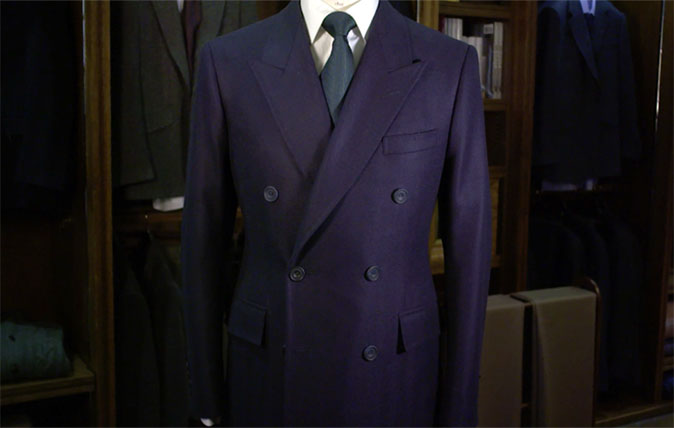 Traditional gentleman's overcoat
