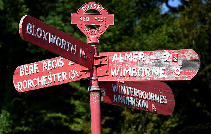 Signpost aka fingerpost aka Red Post in Dorset