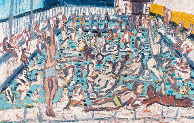 Leon Kossoff Children's Swimming Pool, Autumn Afternoon 1971. Tate © Leon Kossoff