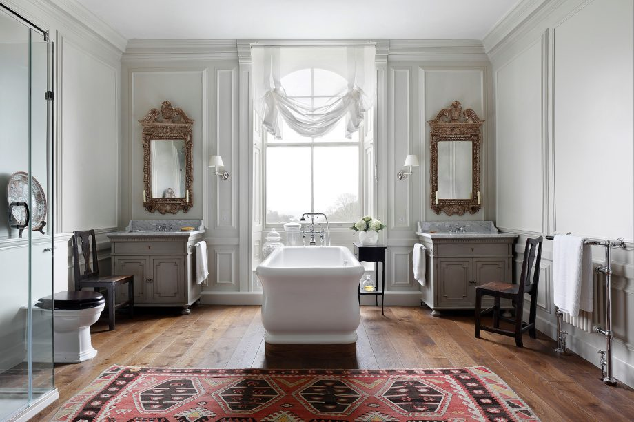 fabric interiors new york best interior designers Henriette von Stockhausen designed this bathroom in a Grade I-listed house  in Buckinghamshire