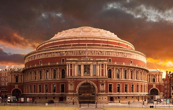 The Royal Albert Hall at sunset