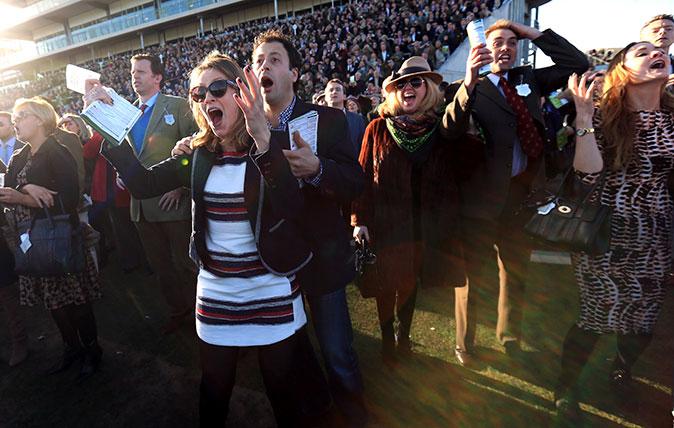 Cheltenham Festival fans cheering (Mike Egerton/EMPICS)