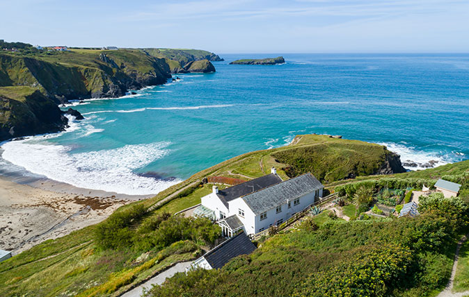 Via Savills in Truro: For sale at a guide price of £2 million is Polbream, in Mullion, some eight miles south of Helston. This extended former farmhouse sits on its own headland, Polbream Point