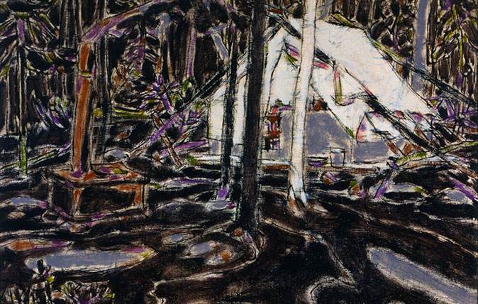 David Milne, Tent in Temagami, 1929, Collection of the Tom Thomson Art Gallery, Owen Sound, Ontario, bequest from the Douglas M. Duncan Collection, 1970. © The Estate of David Milne