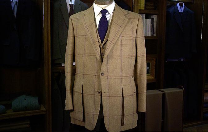 Huntsman tweed sports coat