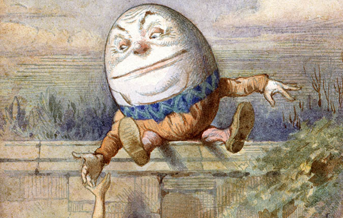 Alice And Humpty Dumpty, from Alice in Wonderland by Lewis Carroll (illustrated by Charles Lutwidge Dodgson)