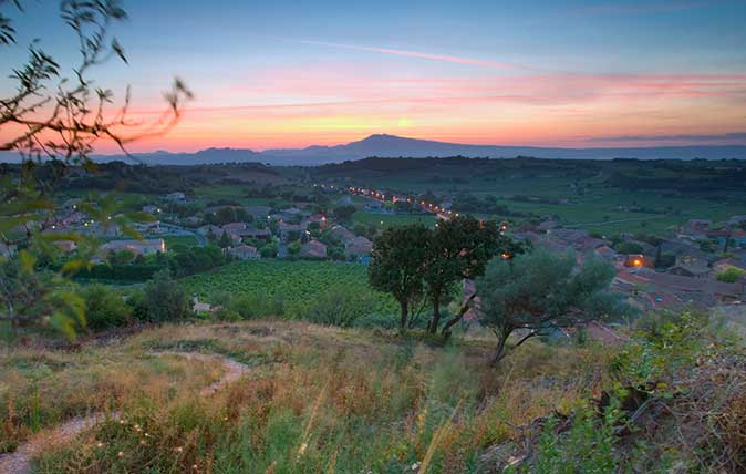 Village of Chateuneuf-du-Pape, France