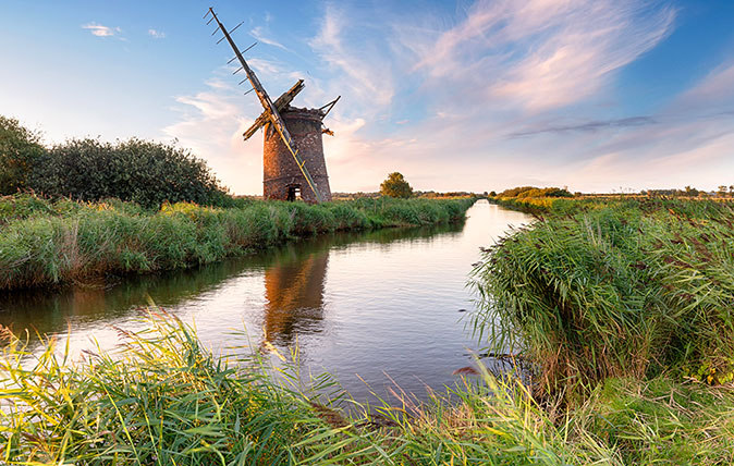 Fens - The beautiful ruins of the Brograve Windmill near Horsey