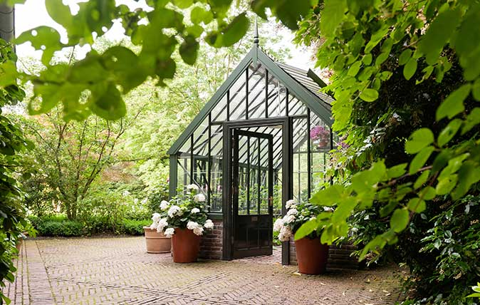 Greenhouse in grounds of home