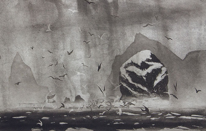 Boreray and the Stacs by Norman Ackroyd - 2010 (©Norman Ackroyd)