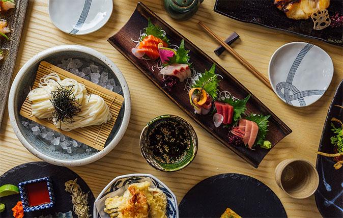 Japanese food at Ginza Onodera