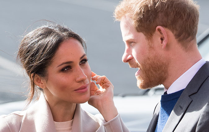 BELFAST, UNITED KINGDOM - MARCH 23: Prince Harry and Meghan Markle attend an event to mark the second year of youth-led peace-building initiative Amazing the Space at the Eikon Exhibition Centre on March 23, 2018 in Lisburn, Northern Ireland. (Photo by Samir Hussein/Samir Hussein/WireImage)