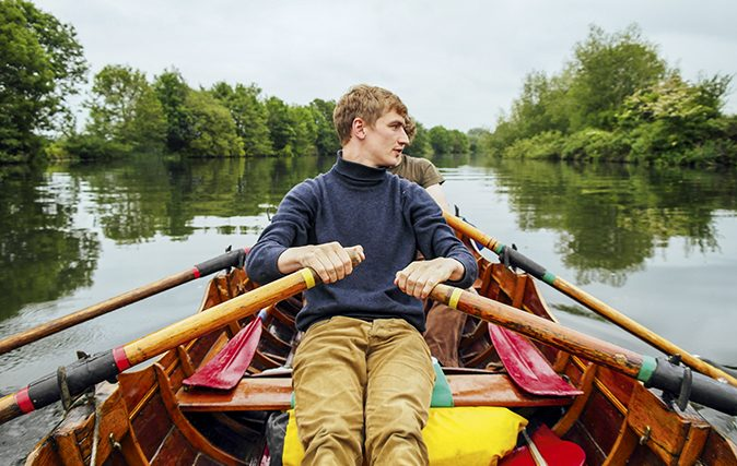 Messing around on boats: Three men in a boat feature Patrick Galbraith