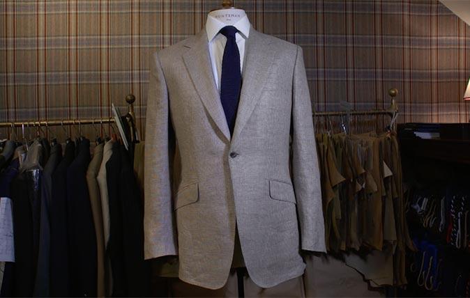 Huntsman linen suit