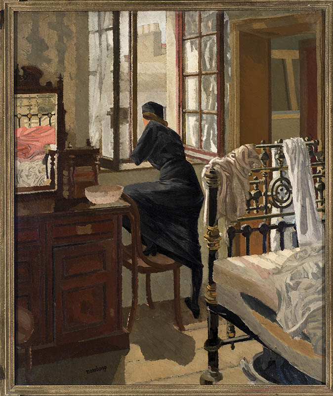 Woman Looking Through a Window by David Bomberg © The estate of David Bomberg, the Bridgeman Art Library