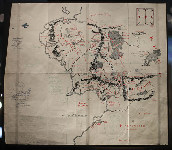 In Focus: The hand-drawn maps from which JRR Tolkien launched Middle ...