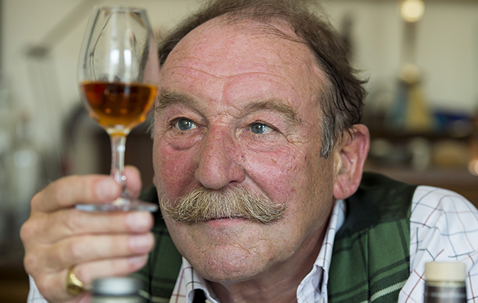 Charlie MacLean, whisky connoisseur, pictured at his home in Edinburgh (©Ian Rutherford/Country Life Picture Library)