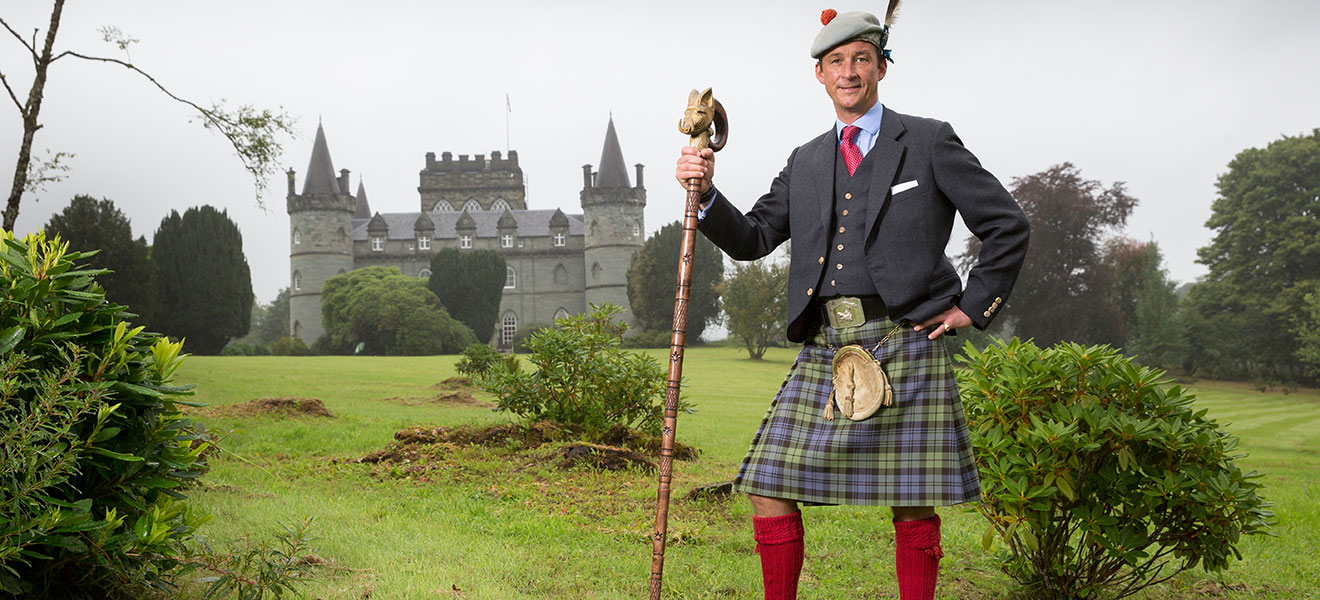 The life of a 21st century Highland clan chief, from managing 60,000 acres to manning the tills at the gift shop
