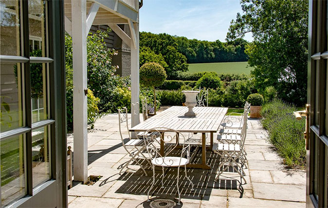 Country house garden terrace