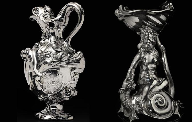 Adam van Vianen's silver ewer and salt