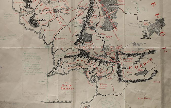 Did Maps In Middle Earth Have West: In Focus: The Hand-drawn Maps From Which JRR Tolkien
