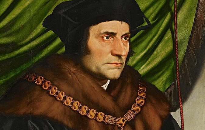 Sir Thomas More, 1527, by Hans Holbein the Younger (1497/8–1543). 29in by 23in, painted in 1527 in oil on oak. Part of the Frick Collection, New York, USA (Photographed by Michael Bodycomb)