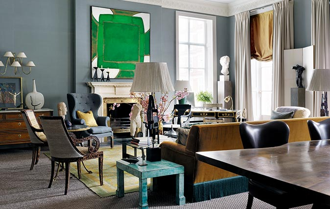 The Beautifully Symmetrical London Drawing Room Of Interior Designer Douglas Mackie Country Life