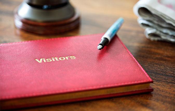 Hotel visitors' book