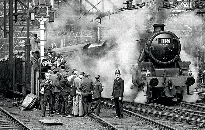 Britain's final-ever steam train - codenamed 1t572 - the 'Fifteen Guinea Special'