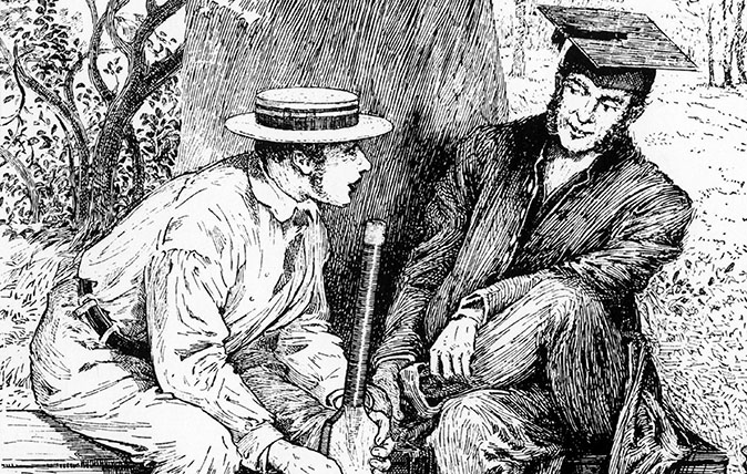 A 19th century illustration from Tom Brown's School Days by Thomas Hughes