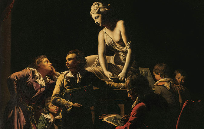 Joseph Wright of Derby's 'An Academy by Lamplight'