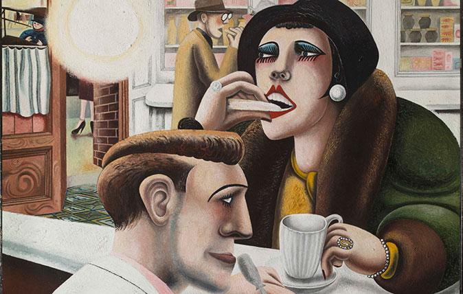 Edward Burra, 'The Snack Bar' (oil on canvas, 1930; © The estate of Edward Burra, courtesy Lefevre Fine Art, London