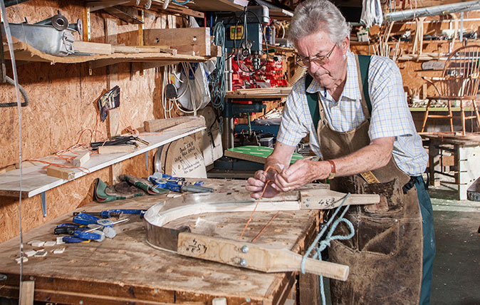 Jim Steele, Windsor chair maker ©Richard Cannon/Country Life Picture Library