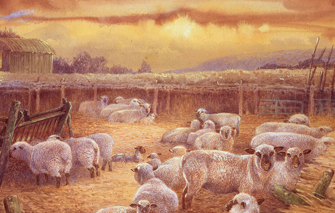 Gordon Beningfield images of British countryside
