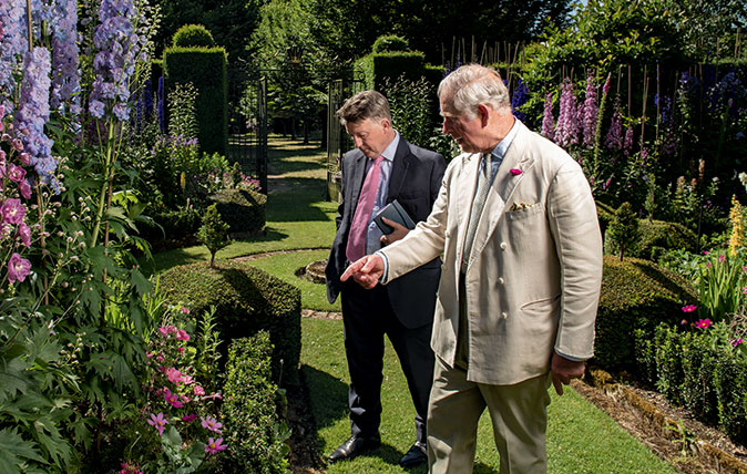 Country Life editor Mark Hedges with HRH Prince Charles