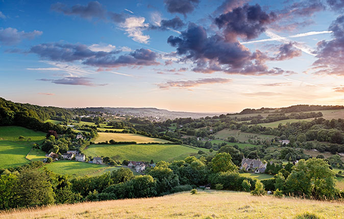 Slad Valley Stroud Gloucestershire Cotswold; Cotswolds Area of Outstanding Natural Beauty;