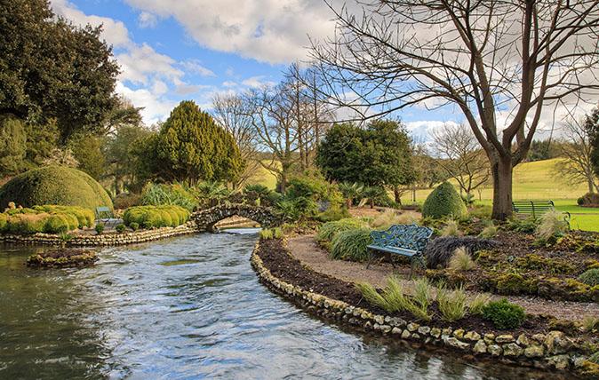 River Lavent through The Spring Garden, West Dean Gardens West Sessex